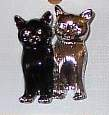 Cats Kitty Horse Show Jewelry Pin Brooch SHOWTIME