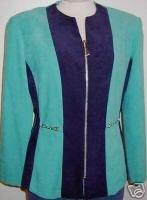 Blue Green & Navy Western Halter Horse Show Jacket 8