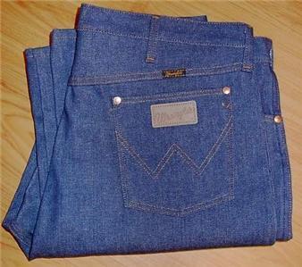 """Wrangler Western Denim Blue Jeans Sz 42"""" X 34"""" Cowboy"""
