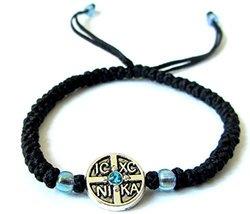 Iconsgr Handmade Christian Orthodox Komboskoini Prayer Rope Bracelet Bla... - $9.80
