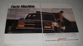 1990 Chevrolet Pickup Truck Ad - Facts Machine - $14.99