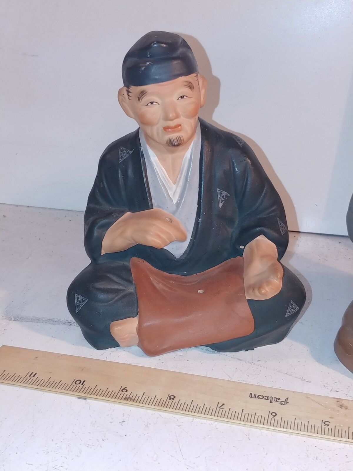 Vintage Arnart Creation Ceramic Seated Man & Woman Made in Japan