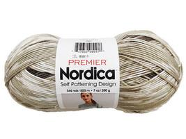 Premier Nordica Self Patterning Design Yarn in Olive #85811