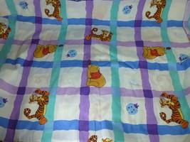 Disney Winnie The Pooh Tigre Simple Drap Plat Nice Graphique Tissu - $15.83
