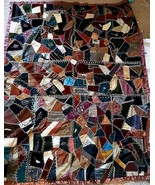 Patchwork Quilt Boho Ready to Hang Multi Color and Textured Fabrics 5'5 ... - $173.75