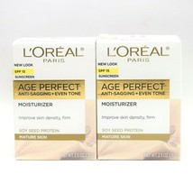 2 L'Oreal Paris Age Perfect Day Cream Mature Skin SPF 15 Anti Sagging Ev... - $16.82