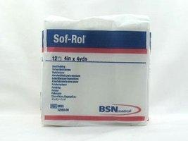 BSN 9034 4 in. x 4 yard Sof-Rol Cast Padding Synthetic Rayon, 12 Rolls per B - $27.99