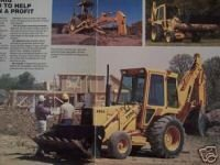 1986 Ford 655A Loader Tractor Original Full Color Brochure