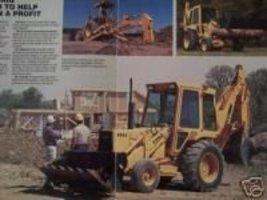 1986 Ford 655A Loader Tractor Original Full Color Brochure - $14.00