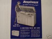 1940s Deepfreeze Freezers Brochure - Original!