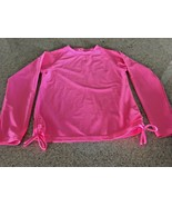 Girl's SnapperRock Neon Pink Long Sleeve Rash Top (10) - $32.73