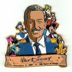 DISNEY DL Walt Disney Birthday FAB 5 Cast Exclusive PIN