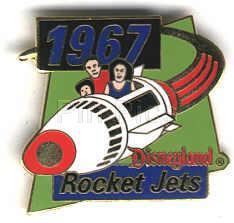Disney DL 1998 Rocket Jets Tomorrowland ride pin/pins
