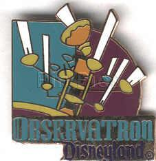 Disney DL 1998 Attraction Tomorrowland Observatron pin