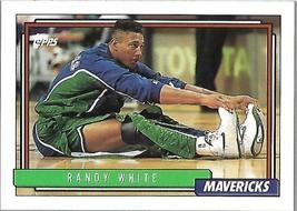1992-93 TOPPS BASKETBALL-#151-Randy White-Mavericks-Forward - $3.96