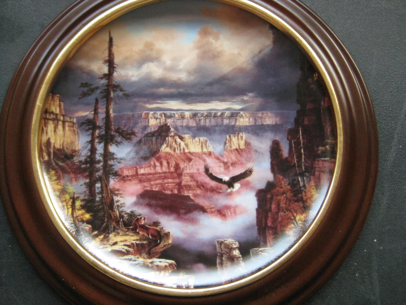 Framed Plate - WHERE EAGLES SOAR featuring the GRAND CANYON - Danbury Mint image 2