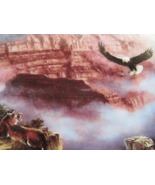Framed Plate - WHERE EAGLES SOAR featuring the GRAND CANYON - Danbury Mint - $22.00