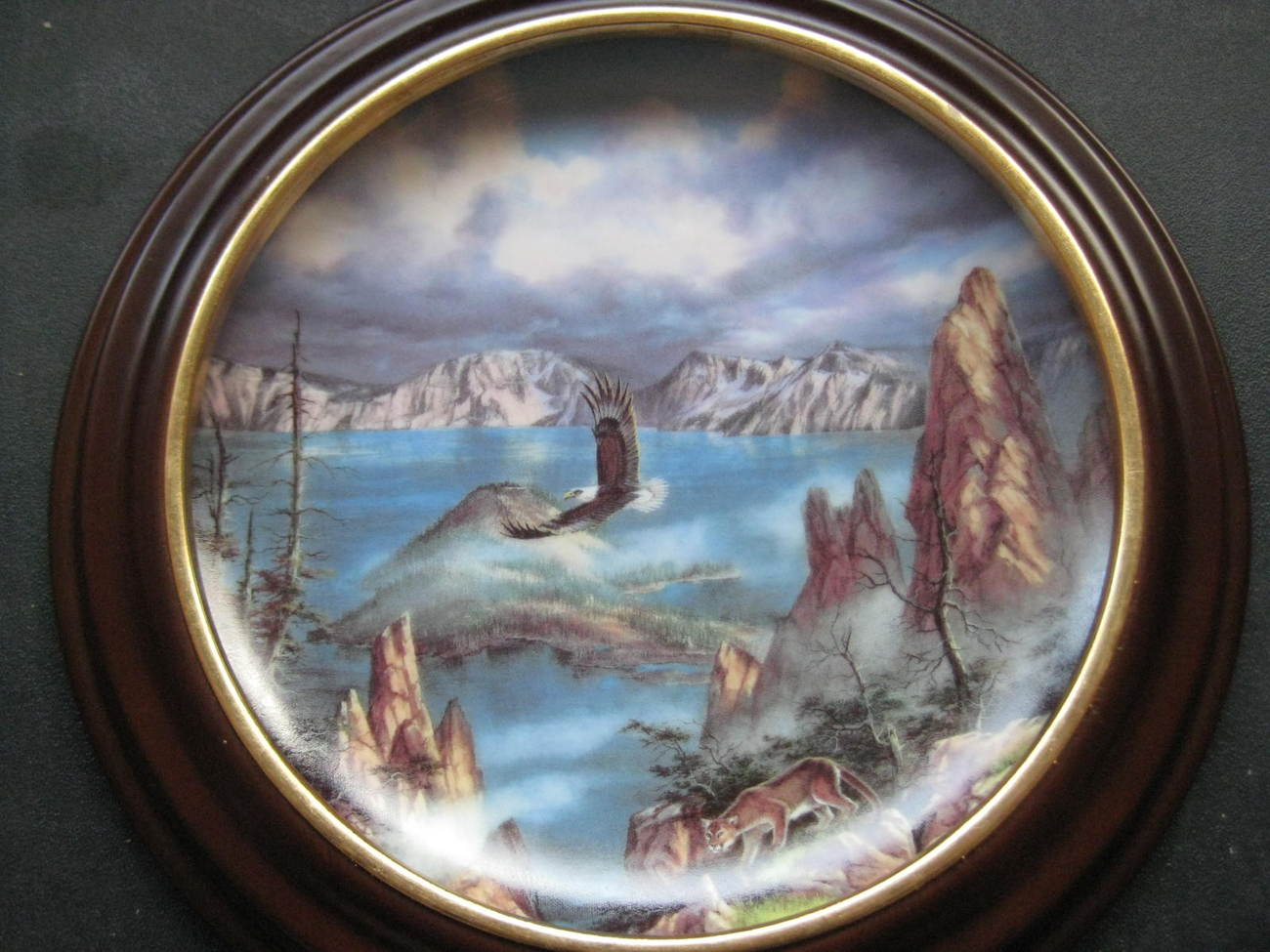 Framed Plate - FLYING FREE featuring CRATER LAKE NATIONAL PARK - Danbury Mint image 2