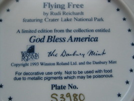 Framed Plate - FLYING FREE featuring CRATER LAKE NATIONAL PARK - Danbury Mint image 4