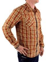 NEW NWT LEVI'S MEN'S LONG SLEEVE BUTTON UP CASUAL DRESS SHIRT ORANGE 3LYLW211 image 2
