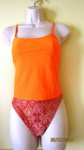 NEW CHRISTINA SWIMWEAR TANKINI SWIMSUIT,SZ 10,ORANGE - $23.71