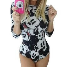 Women Jumpsuit Mickey Mouse Summer Fashion Cartoon Printed Skinny Bodywe... - $23.18