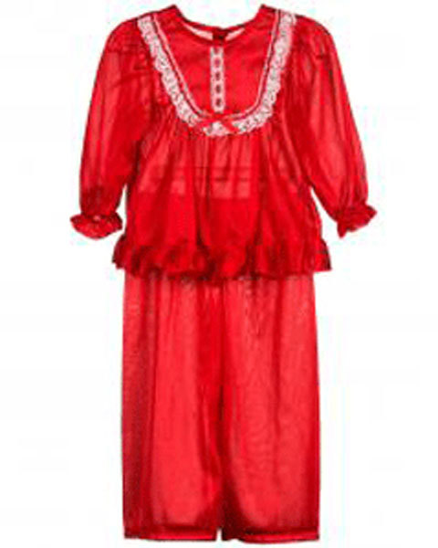 Primary image for Girls Size 6X Frilly Red Pajama Set