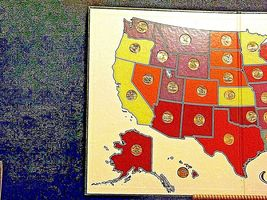 50 State Quarters Collector's Map and Coins AA19-CN19Q6022 image 3