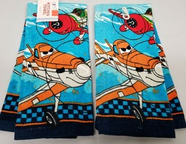 "2 PRINTED KITCHEN TOWELS (15""x25"") CHARACTER PLANES OF DISNEY'S PLANES M... - $10.88"
