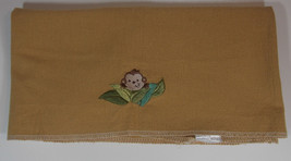 Small Wonders Monkey Receiving Blanket 28x27in Security Lovey Brown Baby... - $13.99