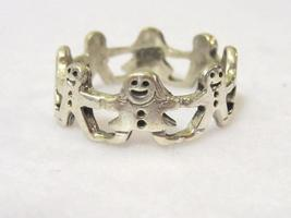 Sterling silver Boys & Girls Hand in Hand Band ring size 7.75 - $14.00
