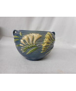 "Vintage Roseville Pottery Two Handled Blue Freesia Jardinere USA 669-4"" - $71.23"