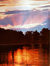 Summer Sunset, Minnesota Lake (Dufex Foil Print #152555) - $4.99