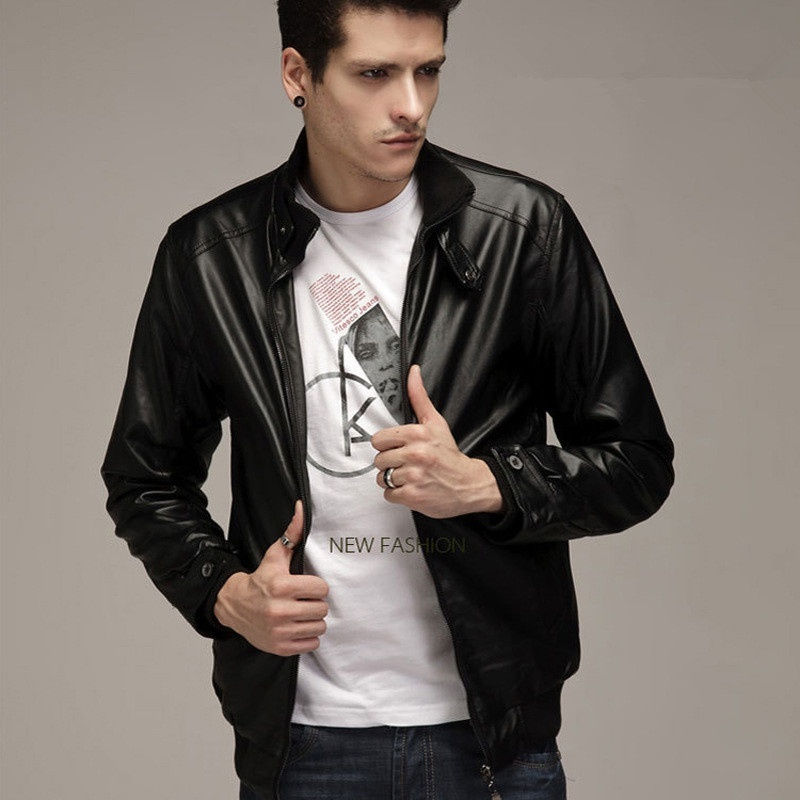 Fashion Men Leather Jacket 2018 Motorcycle Casual Jacket Coats Winter Autumn Men