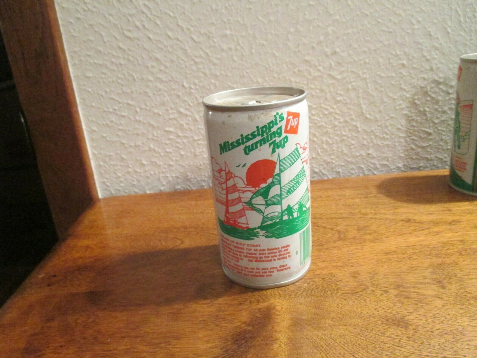 Primary image for Mississippi MS Turning 7up vintage pop soda metal can sailing gulf coast