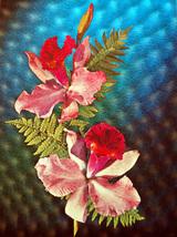 Pink Flowers (Dufex Foil Print #3D3004M) - $4.99