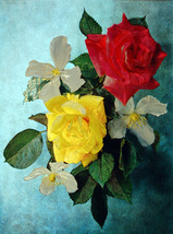 Red and Yellow Roses (Dufex Foil Print #W5105M) - $4.99