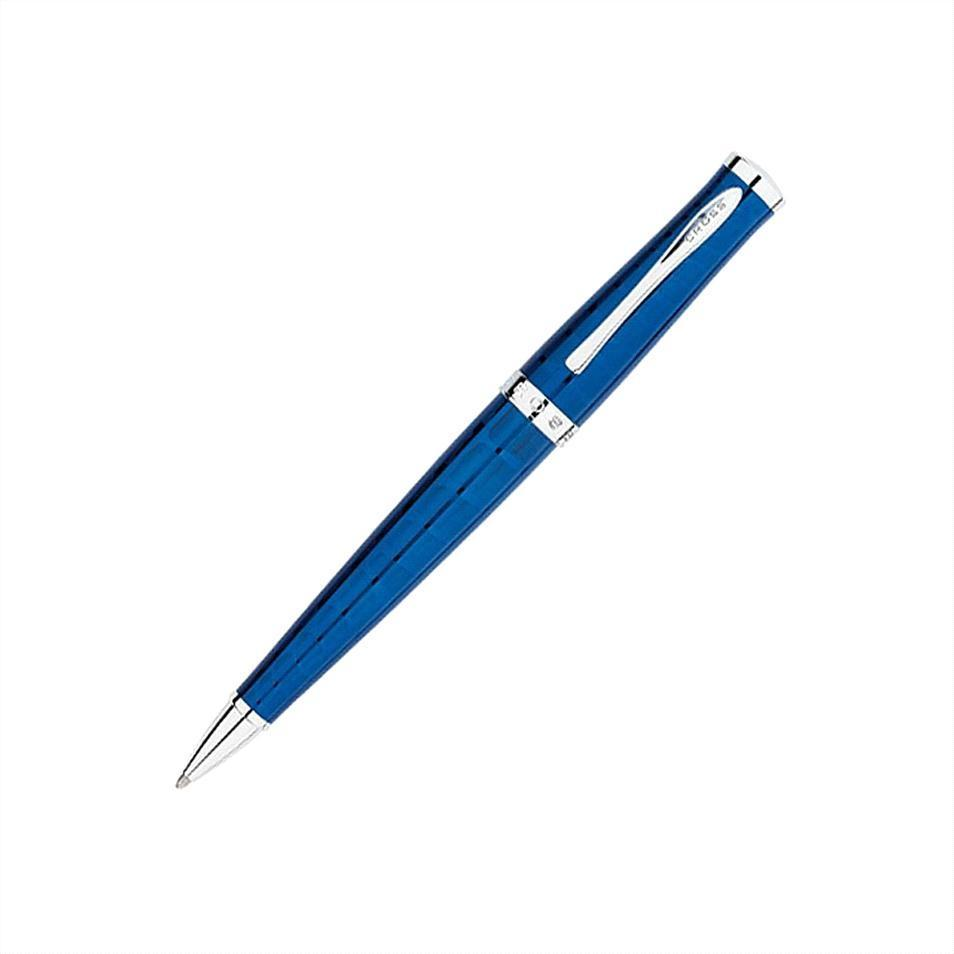 Cross Sauvage Azurite Blue Crocodile Pattern Ballpoint Pen