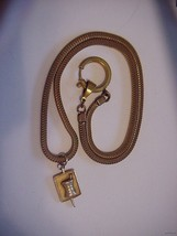 COLLECTIBLE VINTAGE WATCH FOB WITH 10K GF MORTAR & PESTLE Rx 1954 PENDANT - $24.95