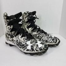 Under Armour Football Cleats Shoes Mens Size 11 Highlight Lutz RM Zebra Print - $27.99