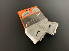 Nike Quarter Kids 6 Pack Socks with  Logo Size 6-7 Shoe size 13C-3Y #172G - $10.88