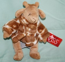 "Russ GISELLA GIRAFFE 7"" Soft Plush Toy Stuffed Animal Brown White Jacket... - $12.32"