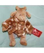 """Russ GISELLA GIRAFFE 7"""" Soft Plush Toy Stuffed Animal Brown White Jacket... - $12.32"""