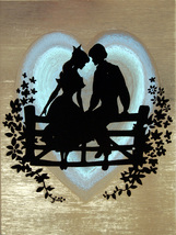 Sweethearts on Fence (Dufex Foil Print #W6079M) - $4.99