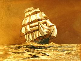 W5345m gold sailing ship thumb200