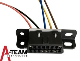 A-Team Performance OBD II OBD2 Dash Port Wire Pigtail Wiring Harness Plug In Cab image 4