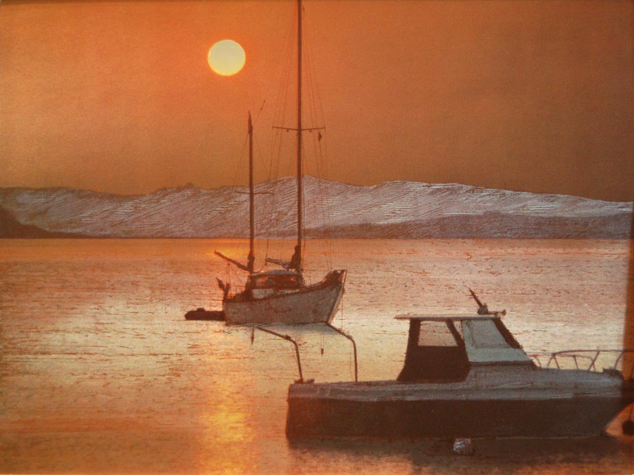 152638 two boats at dusk