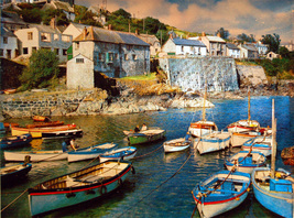 Small Boats at Coverack (Dufex Foil Print #86/86M) - $4.99