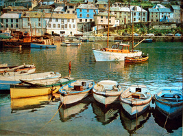 Small Boats at Mevagissey (Dufex Foil Print #586/74) - $4.99