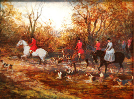 Crossing the Ford (Hunting) (Dufex Foil Print #586/97) - $4.99